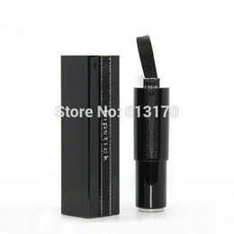 black lipstick free shipping NZ - New arrival 5g Empty lipstick tube Black lip balm tube DIY Makeup Lip gloss container free shipping