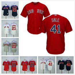 8187fa6b7 Red Sox Jersey 21Roger Clemens 41 Chris Sale Flexbase Baseball Jersey Cool  Base ...