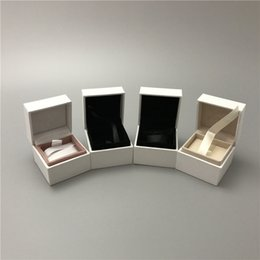 $enCountryForm.capitalKeyWord Australia - 4 Different White Paper Box For Pandox Disny Perks Black Velvet Inside Jewelry Boxes For Charm Bead Earrings Ring Pendant Packaging Display
