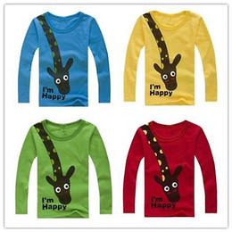 4b734a3751b83d HOT SALE NEW 2017 Long Sleeve Giraffe I m Happy Kids Boys T-shirt Top Long  Sleeve Clothing casual baby clothing