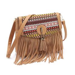 Wholesale Cashmere Knit Fabric Canada - women messenger bags handbags women famous brands 2017 fringe tassel bag female bolsas de marca fashion cross body shoulder bag