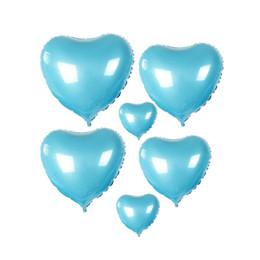 $enCountryForm.capitalKeyWord Canada - hot 50pcs lot 18 Inch Wholesales Party Decoration Helium Inflable Tiffany Blue Heart Shaped Wedding Aluminum Foil Balloon