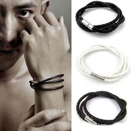 Wear Bracelet Australia - Charm Bracelets foreign trade Men multilayer braided leather rope twist bracelet Both men and women can wear leather infinity bracelets
