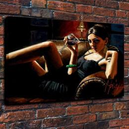 $enCountryForm.capitalKeyWord Australia - Framed Fabian Perez Tess VIII,Pure Hand Painted Impressionism Portrait Pop Art Oil Painting On Quality Canvas.Multi size Free Shipping Fp008