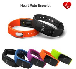 $enCountryForm.capitalKeyWord Canada - Wholesale Smart Watch ID107 Fitbit Band Bluetooth 4.0 Bracelet 24h Dynamic Heart Rate Monitor Sports Wrist Watches for Android IOS 7.1 Phone