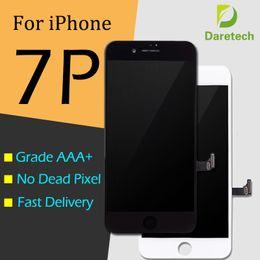 Venta al por mayor de Para blanco y negro iPhone 7 plus Grados A +++ Pantalla LCD Pantalla táctil digitalizador Asamblea completa Envío de DHL