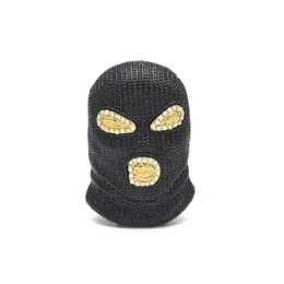 Chinese  Hip Hop CSGO Pendant Necklace Mens Punk Style Gold Silver Plated Black Mask Head Charm Pendant High Quality manufacturers