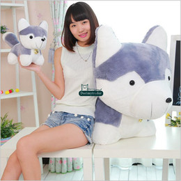 $enCountryForm.capitalKeyWord Canada - Dorimytrader 90cm Big Lovely Soft Animal Husky Plush Toy 35'' Cute Stuffed Cartoon Grey Dog Doll Pillow Kids Gift DY60894