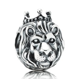 China Silver European Lion Head Alarm Clock Heart Big Hole Charms Beads Fit Original Bracelet Necklace Jewelry Accessories cheap necklace cone suppliers