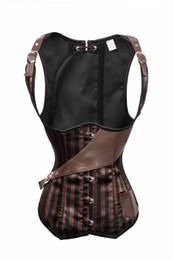Faux leather corset belt online shopping - GLAMCARE Bustier Belt Faux Leather Corset Strap Hook Underbust Women Steampunk Steel Bone Shapewear Lingerie Underwear