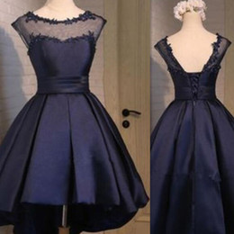 $enCountryForm.capitalKeyWord Canada - 2017 Little Black Sheer Cocktail Dresses High Low Short Fashion Ball Gown Real Photo Prom Party Gowns Custom Made In China