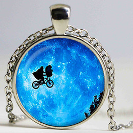 $enCountryForm.capitalKeyWord Canada - Elliott and E. T. in front of the Moon Glass pendant. Planet necklace. Space, universe jewelry,glass cabochon pendant