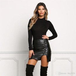 Leather Split Skirt Online | Leather Split Skirt for Sale
