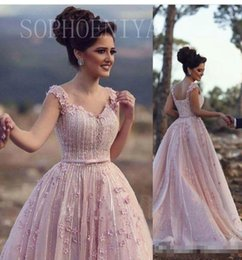 Robes De Robes De Bal Rose Femme Pas Cher-Elie Saab Blush Pink Women Robes de soirée formelle Robe de bal 2017 Sweetheart 3D Flowers Beading Sequins Plus Size Pageant Robes Robe de bal