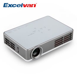 Portable Wireless Hdmi Canada - Wholesale-Excelvan LED9 Portable Android 4.4 DLP Projector WIFI Wireless 1280*800 3000 Lumens Home Proyector Support Blue-ray Digital 3D