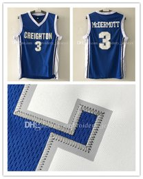 Barato Shirts Men Usa-De qualidade superior CU # 3 Doug McDermott Basketball Jersey Men McDermott Jreseys Sports usa logos bordados Camisas de esportes baratas
