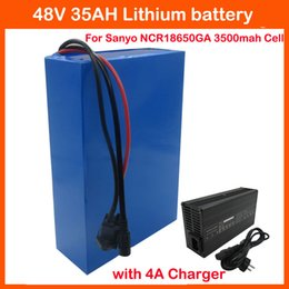 Cell Lithium Ion Battery Canada - Free shipping 2000W 48V 35AH lithium-ion battery 48V ebike bicycle motorcycle battery Use Sanyo GA3500 Cell 50A BMS 4A Charger