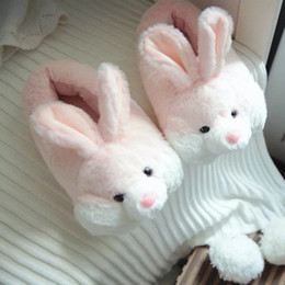 Home plusH slippers online shopping - 2017 New Arrival Soft Plush Cute Rabbit Animal Pattern Home Indoor Slippers Shoes Women For Bedroom House Pregnant Shoes