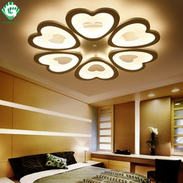 GO OCEAN Heart Shape LED Ceiling Lights Remote Control Foyer Living Room Luminarias Para Sala Dimming Deckenleuchten Light