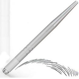 100Pcs серебряный профессиональный перманентный макияж ручка 3D вышивка макияж ручная татуировка бровь микро-клинок