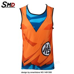 Barato Roupa Do Estilo Do Dragão-2017 Dragon Ball Z Tank Tops Goku Gohan Cartoon Vest Yamcha Vegeta Summer Jersey de estilo 3D Tops Moda Clothing Tees Plus