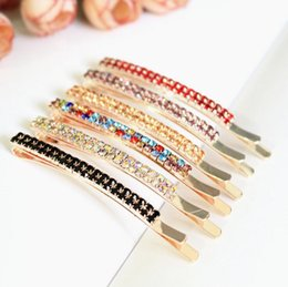 Wholesale Brand new Fountain Hairpin One word folder Liu Hai side hairpin hairpin hair ornaments small card top clip FJ188 mix order pieces a