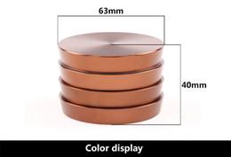 Alloy Hand Canada - silver brown pure color large shredder grinder Magnetic 4-spice metal herb grinder crank aluminium alloy tobacco grinder hand muller crusher