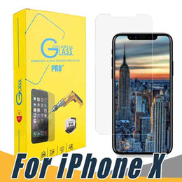Iphone hd screen protectors online shopping - For iPhone X Plus Tempered Glass Screen Protector H D HD Anti Explosion Film with Retail Package