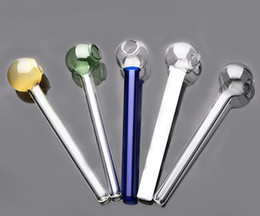 Discount cheap glass bubblers - Mini cheap mix color Smoking Pipes glass pipe glass oil burner for somking tobacco bubblers free shipping smoking access