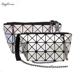 cdc32ba86122 Wholesale-BaoBao issey Japan miyake women Mini Retro geometry chain  Crossbody bags evening clutch ladies famous brand Plaid shoulder bags