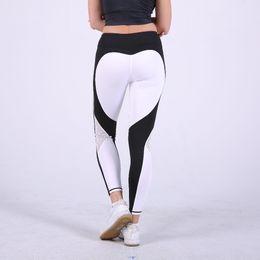 33808572ff4 heart pattern mesh splice legging harajuku athleisure fitness clothing  sportswear elastic sporting leggings women pants