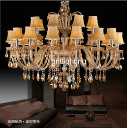 modern crystals Australia - luxury hotel hall villa staircase crystal chandelier modern led chandelier living room restaurant gold chandeliers classic chandelier lights