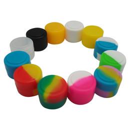 Venta al por mayor de Aceite antiadherente Slicks de silicona Forma redonda 2ml Dab Vaporizador de cera Aceite Contenedor de silicona Contenedor de almacenamiento Herramienta de color surtido