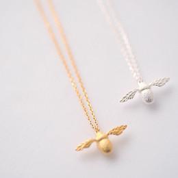 5c16539f23c2 Moda de alta calidad nueva linda Collar de abeja fina joyas de plata de oro  de color miel colgante collar de abeja para las mujeres Popular