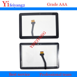 flex glasses NZ - 100% Test LCD front Glass Touch Screen Digitizer With Flex cable For Samsung Galaxy Tab 10.1 P7500 P7510 GT-P7500 GT-P7510 10.1""