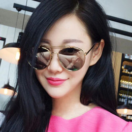 201c32a9f99 2018 New Design Sunglasses for women with thick sections of glasses  Sunglasses Mirrored Designer Brand Glasses Vintage Sun glasses