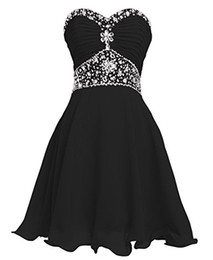 2018 dress pick up lines Black Cheap Chiffon Short Bridesmaid Dresses Sweetheart Prom Formal Party Gowns Dresses Wedding A-Line Dresses Knee-Leng