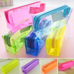 $enCountryForm.capitalKeyWord NZ - Wholesale Plastic Transparent Pencil Bag Pen case School Stationery Kids Gift Prize Office Home Supplies Bag School Office Supplies