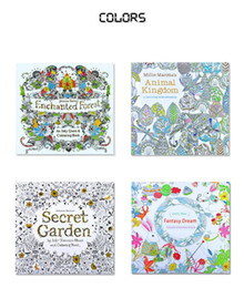 New Coloring Books 4 Designs Secret Garden Animal Kingdom Fantasy Dream Enchanted Forest 24 Pages Kids Adult Painting Colouring