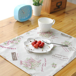White Cotton Napkins Australia - BZ802 Table mats Tableware mats Pads Pastoral style cotton mat Hotel Cafe factory direct placemat tale mat napkin