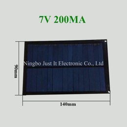 Chinese  30pcs lot Epoxy Resin Small Size Solar Panel 7V 200mA 140*90mm manufacturers