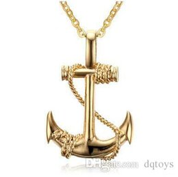 China Movie Related Men Stainless Steel Anchor Pendant The Caribbean Pirate Ships Anchor Sautoir Necklace Movie Figures Fashion Accessories supplier caribbean necklaces suppliers