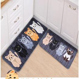 Living Room Carpets Cartoon Cat Parlor Kitchen Mats Bath Mat Doormat Carpet  Non Slip Mat For Home Decor Bathroom Mat 40*60CM Cat Kitchen Decor Outlet