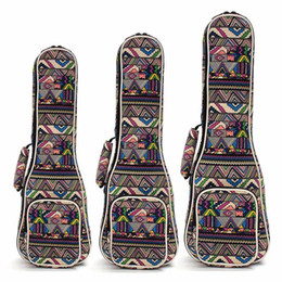 beautiful hands bags Australia - High Quality Beautiful Soft Pad Cotton Folk Style Hand Portable Bag Case Cover For Ukulele 21'' 23'' 26'' Small Guitar Gig Bag