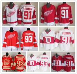 ... CCM Vintage Ice Cheap Detroit Red Wings Winter Classic 91 Sergei  Fedorov Jerseys Wholesale Home Red White Mens 93 ... cb40b39ab