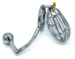 male chastity device cage ring UK - Pure Love Male metal Chastity Device Cock Cages Men's Lock Penis Rings Adult Sex Toys,adult sex products