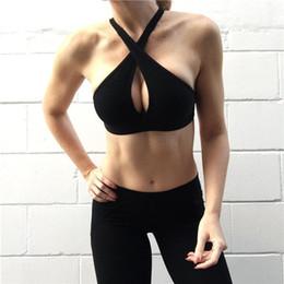 $enCountryForm.capitalKeyWord Canada - women pineapple bikini high neck halter black high cut bikini cropped tops crossed swimwear plus size XL beach bikini top YJ0272