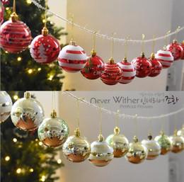 $enCountryForm.capitalKeyWord NZ - 24Pcs one box 6CM Christmas Ball Ornament Shatterproof Balls Xmas Muticolor Trees Wedding Parties Tree Decorations For Party Supplies