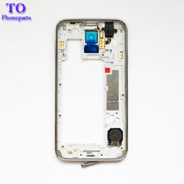 Camera for s5 online shopping - 100pcs LCD Middle Plate Housing Frame Bezel Camera Cover Replacement parts For Samsung Galaxy S5 G900F G900M G900H G900A G900V G900T