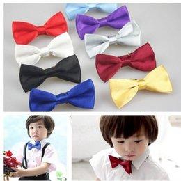 Al por mayor- Niños Boy Corbatas de lazo Corbatas de moño Teddy Dog Cat Choker Collar Tie Niños 2PCS YRD